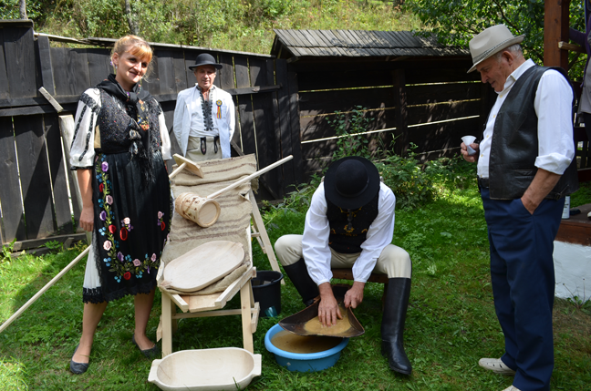 Traditional mining techniques on display