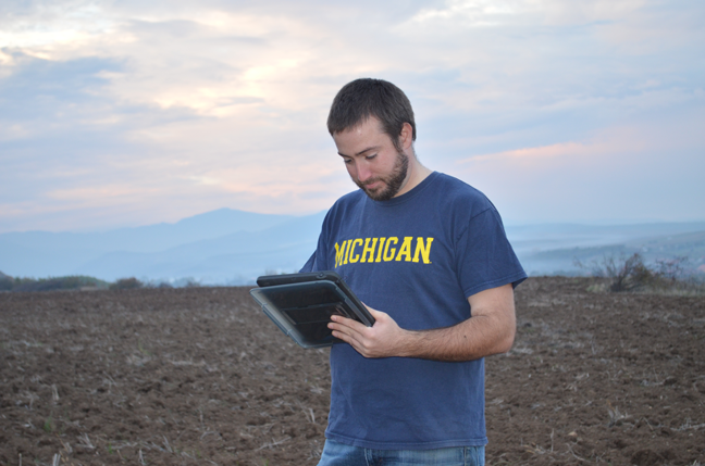 Ph.D. student Colin Quinn in Romania, where U-M is known as a global leader in anthropology research