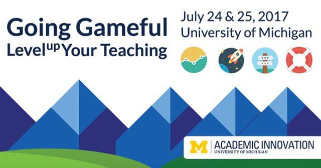 Promotion graphic for the Gameful Summer Institute.