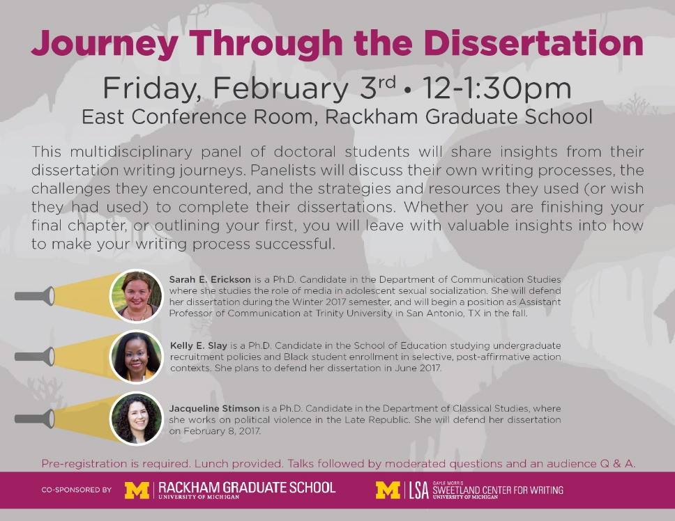 Journey Through the Dissertation Flyer