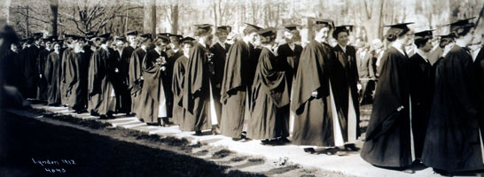 Academic procession, 1912