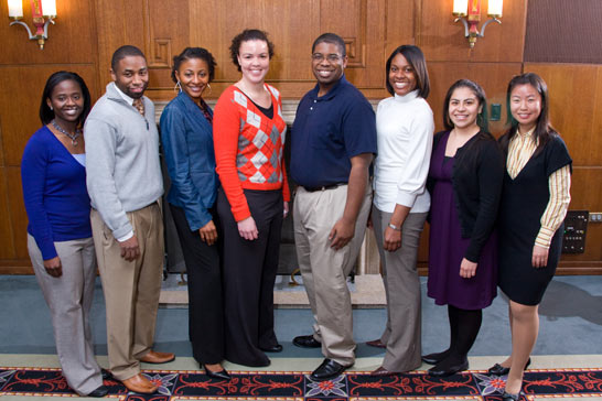 Graduate students elected to the Bouchet Honor Society in 2009