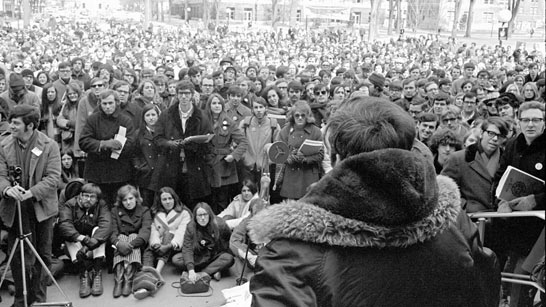 Earth Day demonstration, 1970