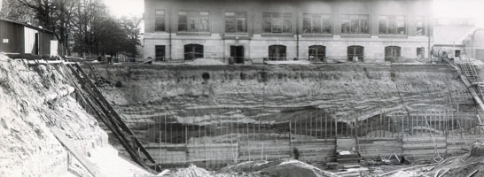 Excavation for new Physical Science building which was completed in 1924