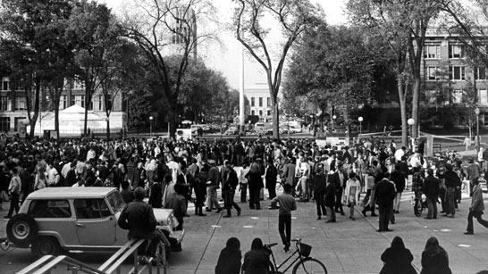 campus protest, 1960s
