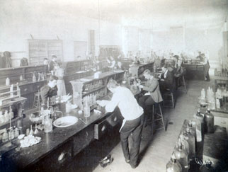 Interior of the Chemical Laboratory, ca. 1900