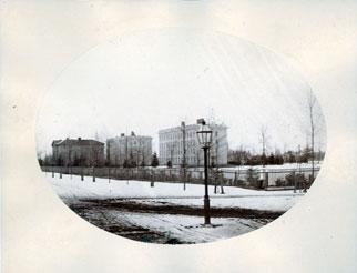 Mason Hall, South College, and Haven Hall