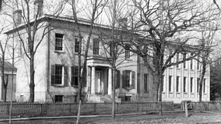 photo of original campus building