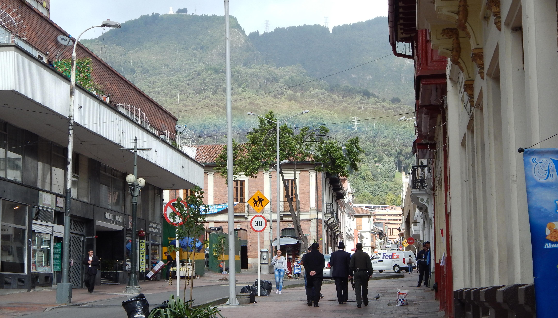 Street scene in Bogota, Columbia