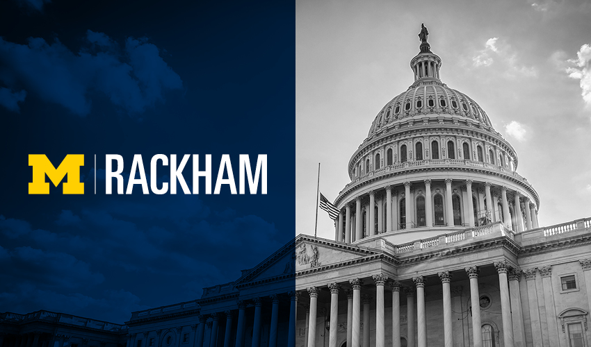 Rackham Logo and Washington, D.C., Capitol Building