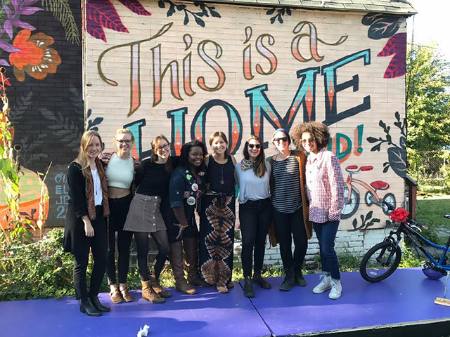 The Tricycle Collective members at one of their Fall Fundraiser events in October 2017.