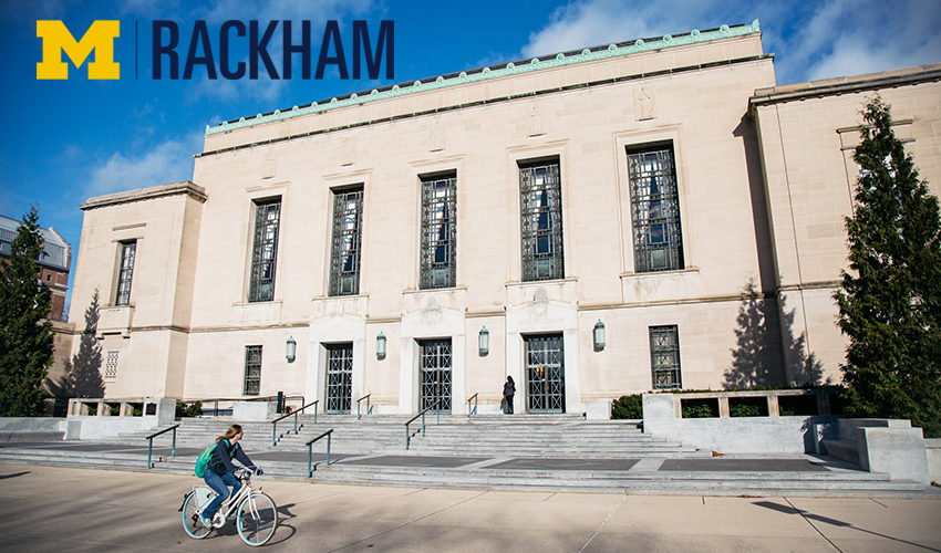 Rackham building with bicycle
