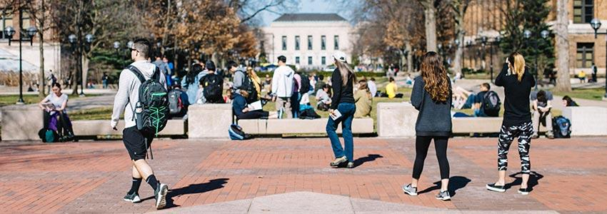 University of Michigan diag and students