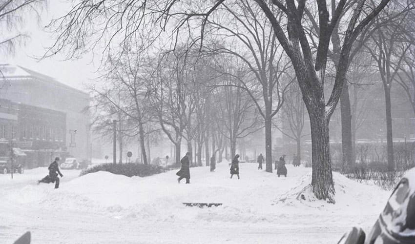 winter on campus 1938